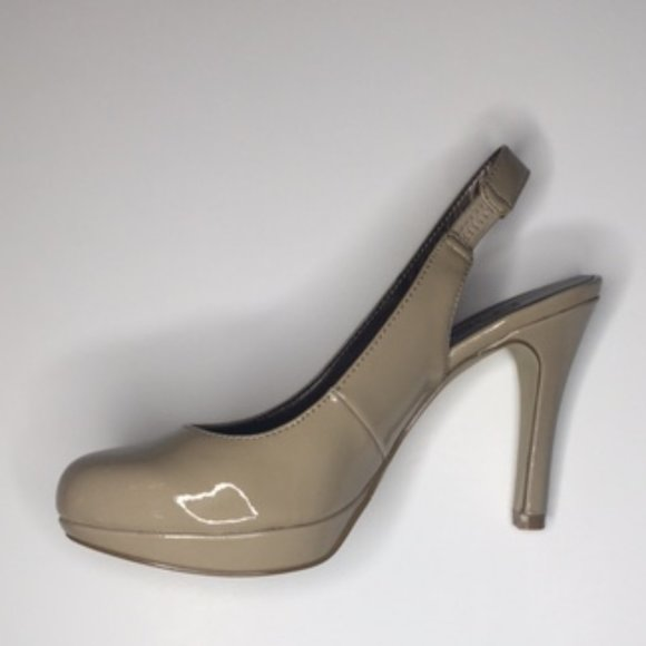 Moda Spana Karah Taupe Slingback Heels